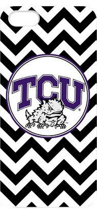 Amazon.com: NCAA TCU Horned Frogs Apple Iphone 5 Case Texas Christian University Black And White Wavy Stripes Design White Hard Case Cover G...