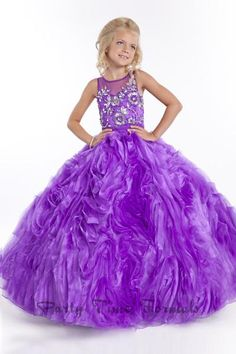 Discount Little Girl Formal Occasion Ball Gown Dresses Rhinestones Tiered Organza White Red Purple Princess Girls Pageant Dress Birthday TV Gifts Online with $109.47/Piece on First_lady_dress's Store | DHgate.com