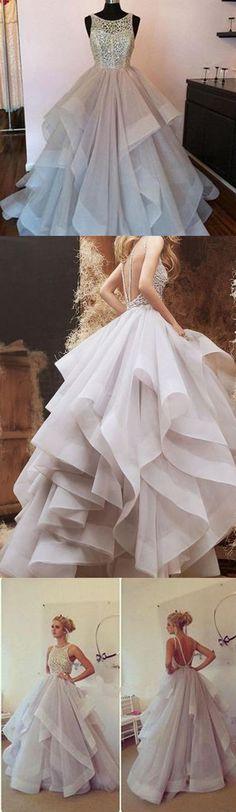 Popular Charming Elegant Open Back Affordable Long Prom Evening Dresses, WG778 #prom #promdress #longpromdress
