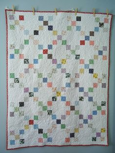 Blue is Bleu: 1933 Single Irish Chain Quilt: Consider for Ashley and Jeff Patchwork Quilt Patterns, Scrappy Quilts, Easy Quilts, Block Patterns, Mini Quilts, Quilting Projects, Quilting Designs, Sewing Projects, Quilting Classes