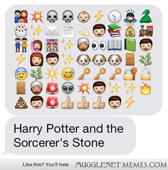 Harry Potter and the Sorcerer's Stone through Emoticons