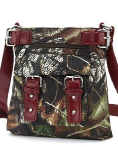 Mossy Oak Red Camouflage Western Hipster Crossbody Purse