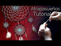 Learn how to wire wrap the webbing of a dream catcher! Level: Beginner Dreamcatchers, derived from the Ojibwe traditions, were used to filter the good dreams. Beginner Crochet Projects, Crochet For Beginners, Crochet Video, Love Crochet, Diy Crochet, Macrame Tutorial, Flower Tutorial, Dream Catchers, Macrame Youtube