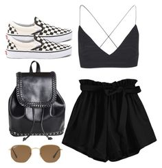 """Sin título #3511"" by camilae97 ❤ liked on Polyvore featuring Boohoo, Vans and Ray-Ban"
