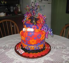 Coolest Topsy Turvy Surprise Cake... This website is the Pinterest of birthday cake ideas