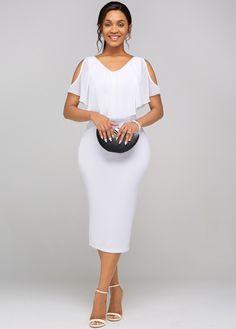 Cape Sleeve Dress, Short Sleeve Dresses, Plus Size Bridesmaid, Calf Sleeve, Dress Silhouette, Party Fashion, Capsule Wardrobe, Dresses For Sale, Party Dress
