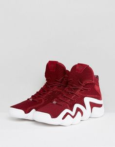 best website 6dcad a4c56 adidas Originals Crazy 8 Primeknit Sneakers In Red BY4366