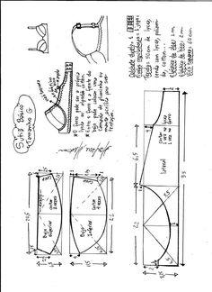 T Shirt Sewing Pattern, Bra Pattern, Pattern Drafting, Dress Sewing Patterns, Sewing Patterns Free, Clothing Patterns, Sewing Bras, Sewing Lingerie, Jolie Lingerie