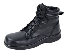 Apex Ambulator Men's Boots - - Wide Toe Box - inch removable depth - boots Aetrex items ship withing 48 hours or faster and have free return shipping on all exchanges. Apex Shoes, Men's Shoes, Comfortable Boots, Black Boots, Combat Boots, Lace Up, Fashion, Moda, Man Shoes