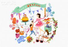 Illustration of birthday