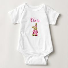 Personalized Baby Bunny Rabbit Girl One Piece Tee - girl gifts special unique diy gift idea