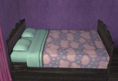 Some bedding and those sparkly vomit default replacements! Patterns for the bedding are from ColourLovers, and special thanks to CuriousB for the bedding creation kit. The vomit is based on...