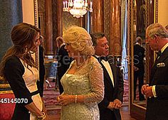 camillasgirl: Greeting guests at The Sovereign Dinner, 18th May 2012; 9/16 King Abdullah II Bin Al-Hussein of Jordan and Queen Rania Al Abdullah