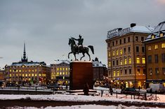 Dark winter day - Gamla stan and Slussen, Stockholm, Sweden - Landscape photography by  Lola Akinmade Åkerström