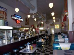 Interior of the Coney Island Diner in downtown Mansfield, Ohio Cool Places To Visit, Places To Go, Ashland Ohio, Mansfield Ohio, Lincoln Highway, Downtown Restaurants, Fun Walk, The Buckeye State, American Diner
