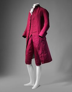 Suit, 1770-1780, probably British, Made of wool, silk, and cotton