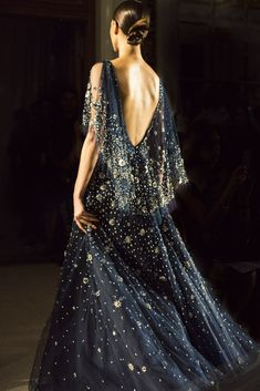 Starry embroidered gown // Marchesa Spring 2016 Ready-to-Wear Fashion Show