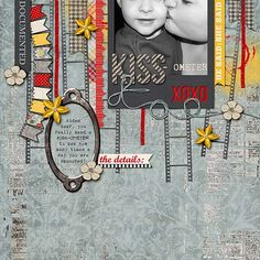 Layout by Kimberly M. Supplies: Hello Goodbye by Traci Reed.