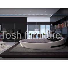 Modern Round Platform Bed