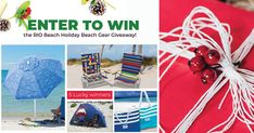 Enter for a Chance to Win the RIO Beach 2018 Holiday Beach Gear Giveaway! Enter Sweepstakes, Instant Win Games, Beach Gear, Holiday Beach, Winner Winner Chicken Dinner, Baby Carrots, Karma, Rio, Giveaway