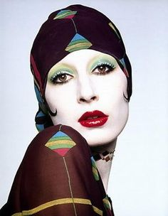 Anjelica Huston photographed by Gian Paolo Barbieri for Vogue Italia, 1973