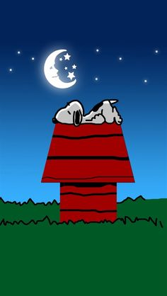 Good night, Snoopy! ♡ See More #PEANUTS #SNOOPY pics at www.freecomputerdesktopwallpaper.com/peanuts.shtml