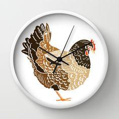 Hen Wall Clock - $30.00
