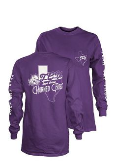 b0b15ff20736 Show off your team spirit for TCU Horned Frogs with this Womens Purple  Flynn T-