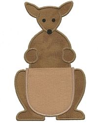 Kangaroo Pocket - 2 Sizes!   In the Hoop   Machine Embroidery Designs   SWAKembroidery.com Applique for Kids
