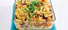 Kebabkiusaus Pasta Salad, Koti, Dinner, Ethnic Recipes, Kitchen, Red Peppers, Crab Pasta Salad, Dining, Cooking