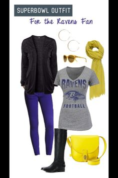 b0be2eccee2 Superbowl outfit for the ravens fan - Here is a budget friendly outfit for  game night!