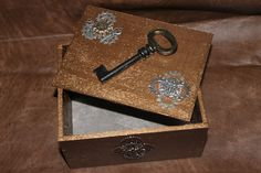 Steampunk Jewelry Box Skeleton Keys Locks Gears by TaintedMarks
