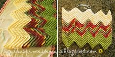 Almohadón de original diseño - punto zig-zag Zig Zag Crochet, Crochet Stitches, Crochet Tops, Couch Pillows, Cushions, Bohemian Rug, Free Pattern, Chevron, Reusable Tote Bags