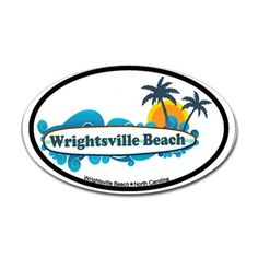 Wrightsville Beach NC - Surf Design Decal on CafePress.com