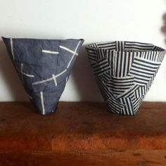 Instagram favorite – Brydie Brown | Fine Little Day diy inspiration paper maché bowls with fabric, with link to how-to.