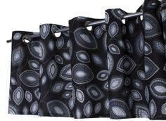 svart mönstrad gardinkappa från svanefors