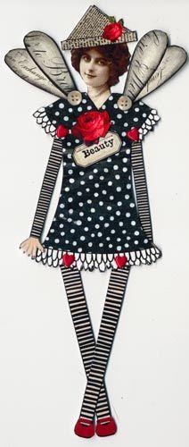 BONECA DE PAPEL BONECO DE PAPEL papel dollsVintage Paper Doll Art
