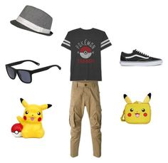 """The Pokemon Trainer Set"" by gavwhite ❤ liked on Polyvore featuring JEM, Dsquared2, Vans, Lacoste, Nintendo, men's fashion and menswear"