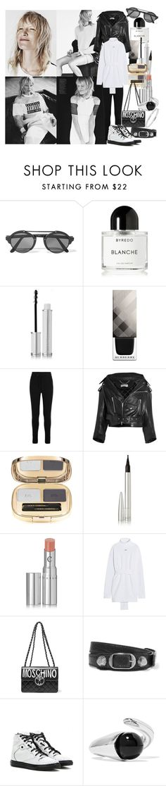 """Dare me to reach a little higher,  you can dare me to step over the edge"" by brownish ❤ liked on Polyvore featuring Illesteva, Byredo, Givenchy, Burberry, Haider Ackermann, Balenciaga, Dolce&Gabbana, Ellis Faas, Chantecaille and Off-White"