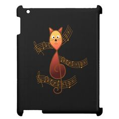 Treble Clef Cat Case For The iPad