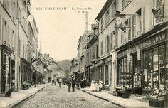 Carte postale Ancienne – L'Isle -Adam – La Grande Rue | Cartes Postales Anciennes