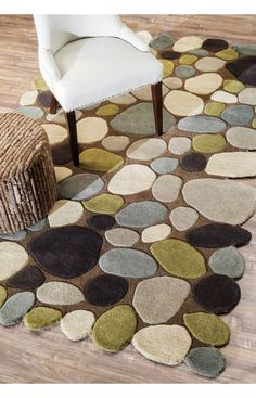 Rugs USA Serendipity Contemporary Handmade Wool Pebbles Cobblestone Brown Rug…