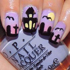 halloween by amyytran #nail #nails #nailart