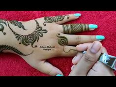 New Beautiful Stylish Mehndi Design for Hand || Karwachauth Special Mehndi || Arham Mehndi Designs - YouTube Rose Mehndi Designs, Mehandi Designs Easy, Henna Art Designs, Stylish Mehndi Designs, Mehndi Design Photos, Dulhan Mehndi Designs, Mehndi Designs For Fingers, Latest Mehndi Designs, Arabic Mehndi Designs