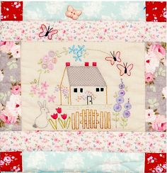 Le JARDIN FARMHOUSE BLOCK. Needles ready- here we go for another fun block in the Le Jardin quilt. We are, unbeleivably up to Block 7- the Farmhouse Block. The block that is featured in the...