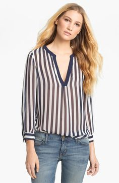 Joie 'Peterson B' Sheer Silk Blouse