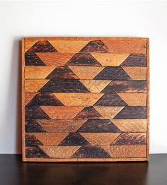 Broken Pyramids Reclaimed Wood Wall Art by Wood & Paper Co. on Scoutmob Shoppe Love this!!