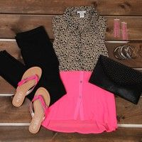 Leopard outfit ~  ~ Good for a summer day.