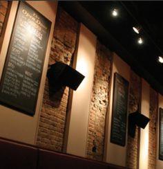 Open Door Gastro Pub NYC, walls with chalkboard menu decor