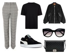 Untitled #2 by carolineaplum on Polyvore featuring polyvore, fashion, style, Alexander Wang, Topshop, Puma, Chanel, Retrò, Topman and clothing